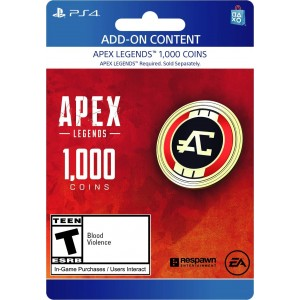1,000 Apex Coins Digital (código) / Ps4