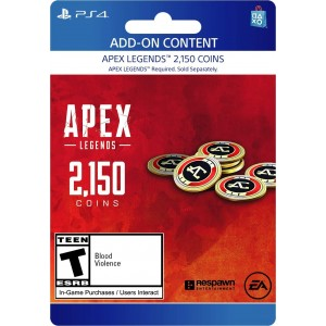 2,150 Apex Coins Digital (código) / Ps4