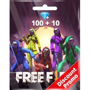Free Fire 100 + 10 Diamonds Pins (Garena)