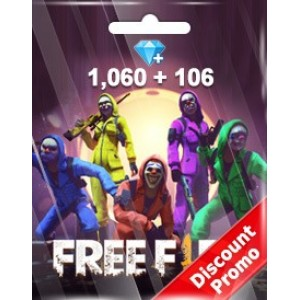 Free Fire 1060 + 106 Diamonds Pins (Garena)