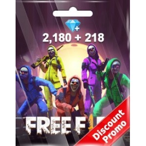 Free Fire 2180 + 218 Diamonds Pins (Garena)