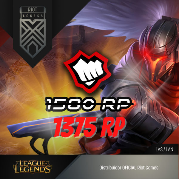 1375 Riot Points League Of Legends Lol - OFICIAL