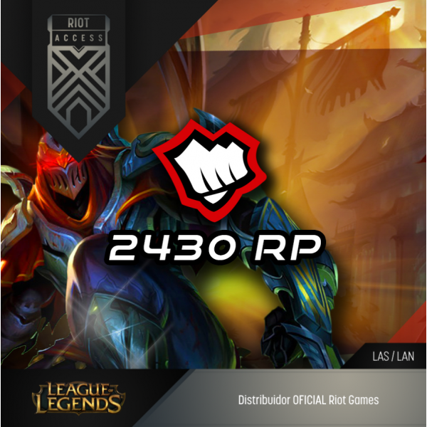 2430 Riot Points League Of Legends Lol - OFICIAL