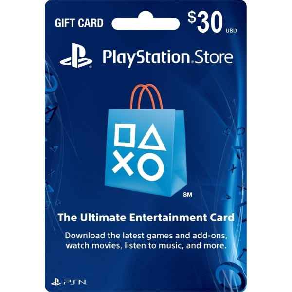 Playstation Network Card 30 Usd (USA)