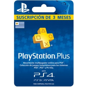 Playstation Plus 3 Meses (Uruguay)