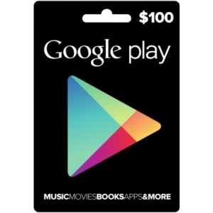 Google  Play 100 Usd