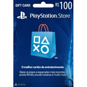 Playstation Network Card R$ 100 (Brasil)